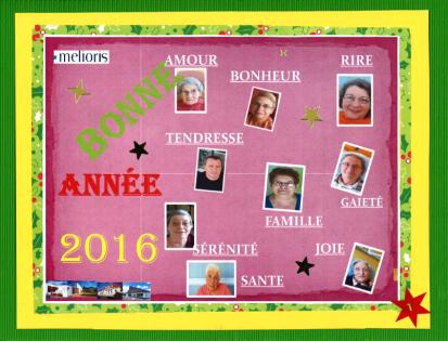 Carte de voeux 2016_Réalisation Melioris Le Logis des Francs