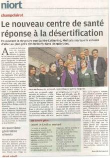 Inauguration Centre de Santé Champclairot