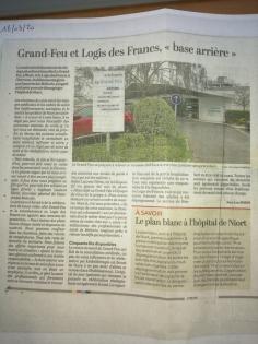 Covid 19 - Grand Feu et Logis des Francs, base arrière de l'Hôpital de Niort